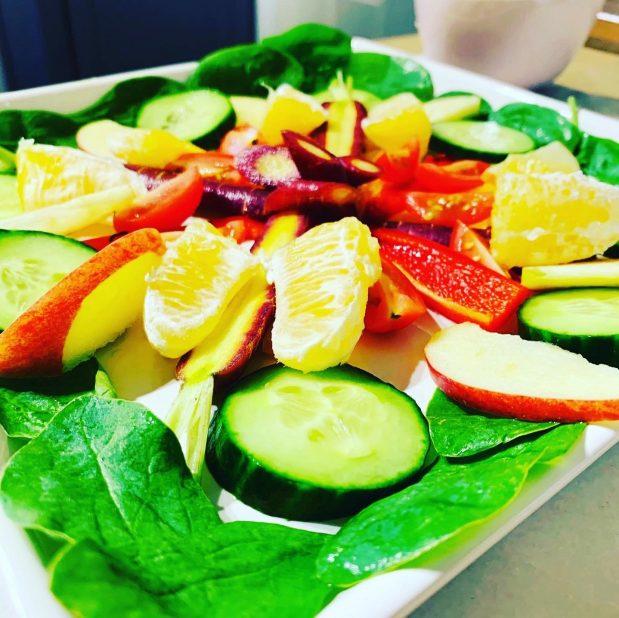 Fruit & vegetable mandalas