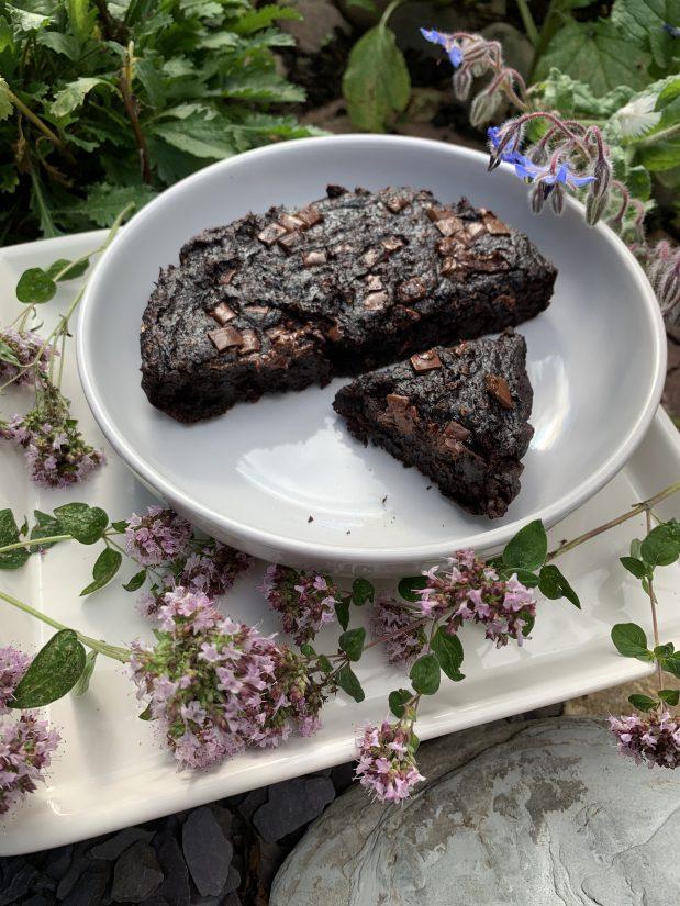 Healthy wholefood brownie