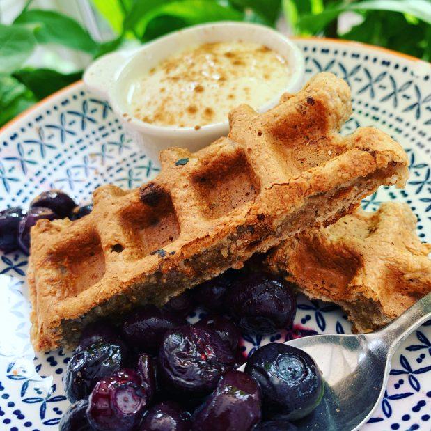Oat & banana waffles